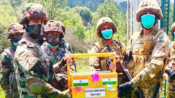 India Pakistan exchange sweets at LoC on Eid-VPN