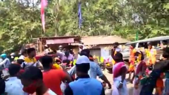Muslims gave water to the devotees who went to worship at the Shiva temple