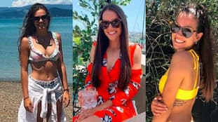 Hot Pictures of IPL team Mumbai Indians former star Mitchell McClenaghan's wife Georgia England spb