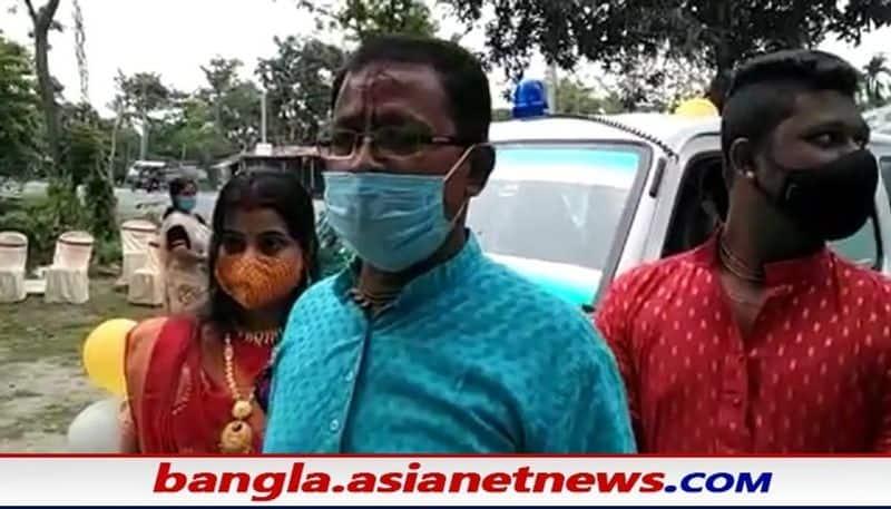 Jalpaiguri businessman bought an ambulance for Covid patients with his son's wedding money BSM