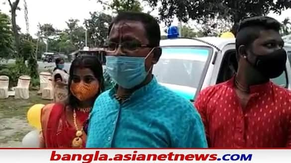Jalpaiguri businessman bought an ambulance for Covid patients with his son's wedding money BSM