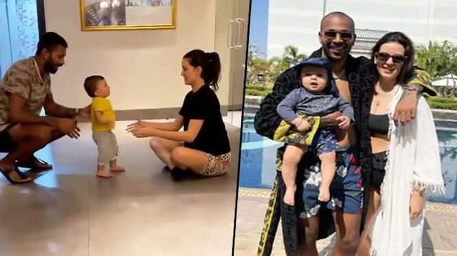 Watch Hardik Pandya, Natasa Stankovic help son Agastya to walk in adorable video-ayh