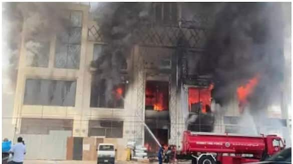 building in Jahra catches fire and two dead