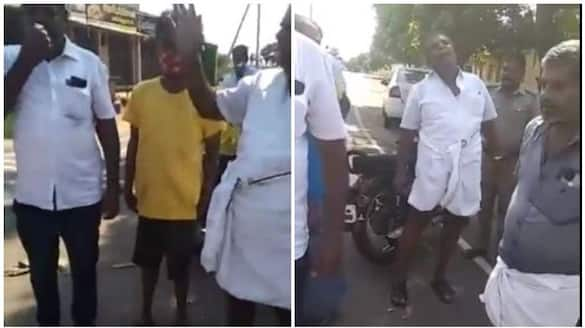 Drunk DMK Person Atrocity to Female Inspector