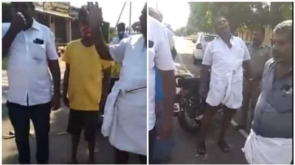 Drunk DMK Person Atrocity to Female Inspector