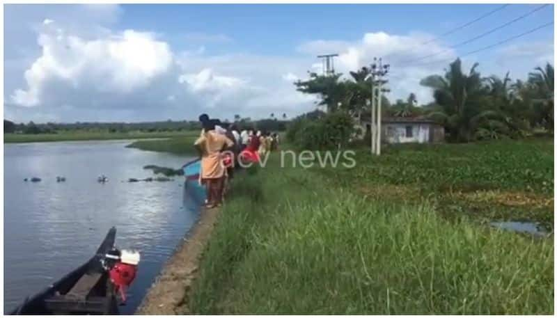 young man falls into lake after boat capsizes in kottayam
