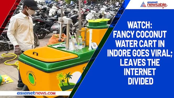 Watch Fancy coconut water cart in Indore goes viral; leaves the internet divided-tgy