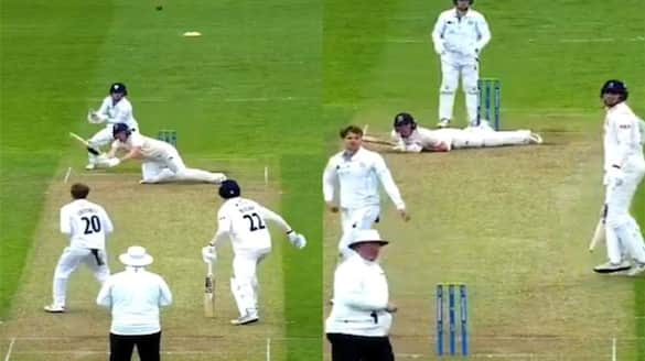 Dan Lawrence helicopter shot: batsman fell down while trying helicopter shot of Mahendra Singh Dhoni dva