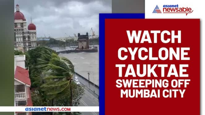 Cyclone Tauktae pounded on the city by waves; Chilling video - gps