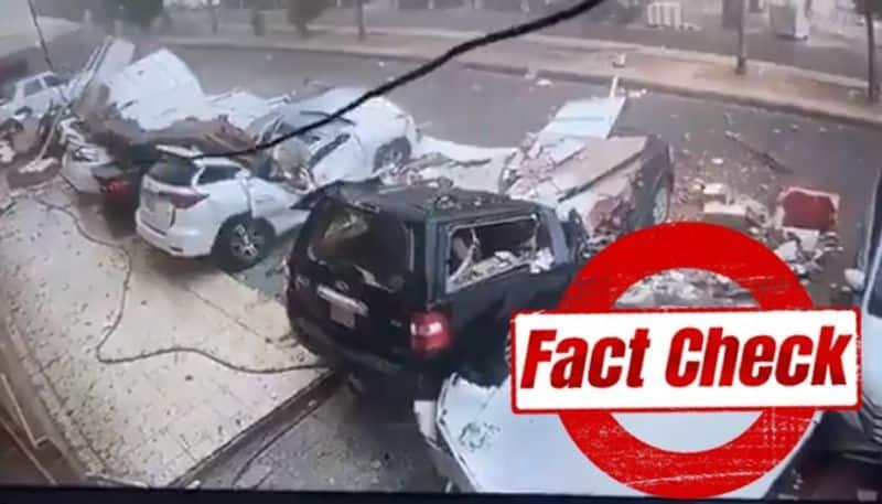 Fact check of Viral  video of cyclene tauktae in mumbai bsm
