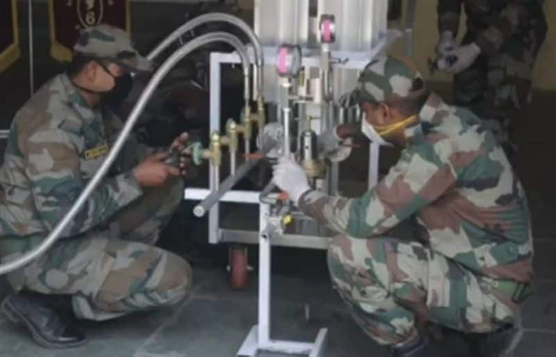 Covid 19 Indian Army engineers innovate way to convert liquid oxygen to low pressure oxygen gas