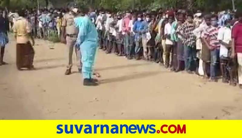 Ayurvedic cure for COVID-19 offered in Andhra Pradesh Village hundreds of people line up mah