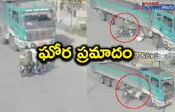 Road accident: couple on bike crash into a lorry sustaining serious injuries