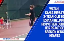 Watch: Sania Mirza's 2-year-old son Izhaan helping his mother during her practice session wins hearts