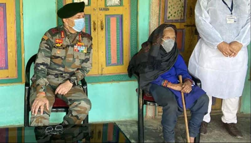 120-Year-Old Kashmir Woman Takes Covid Jab; Honoured By Army Commander