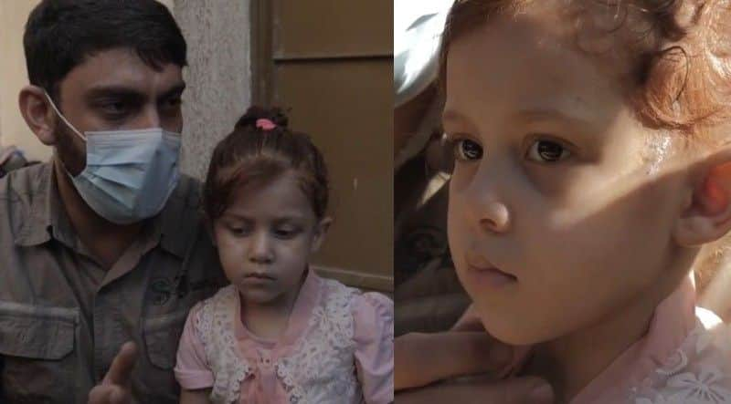Gaza girl hasnt spoken since her mother and siblings murdered by Israel aerial attack