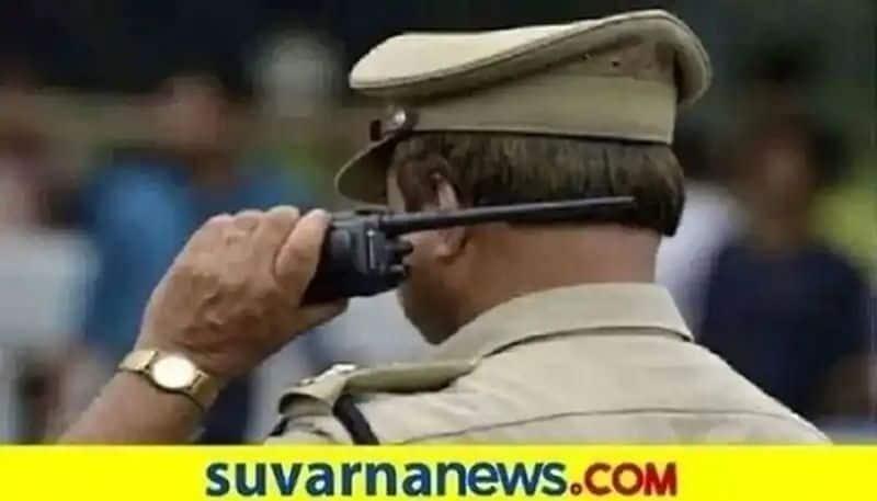 Woman Wearing apron While Checking Police at Yadgir grg