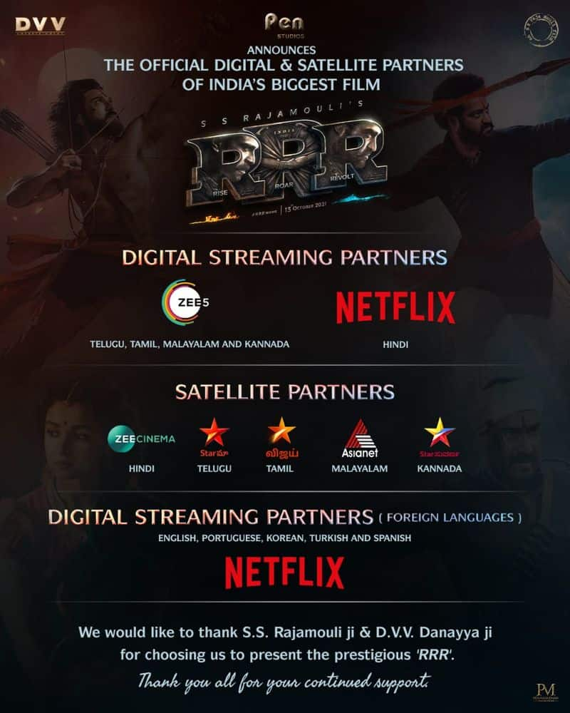 here list of tv channels ott platforms those are get rrr movie streaming rights ksr
