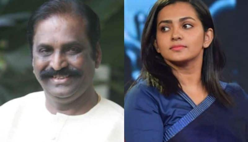 Actress Parvathy criticizes Vairamuthu for being selected for ONV Award