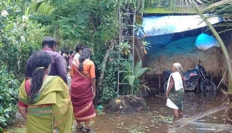 Around 300 houses were flooded in the western part of Mannar