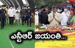 TDP Chief Nara Chandrababu, Lokesh, Devansh pay tribute to NTR akp