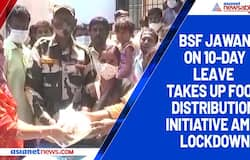 BSF jawan on 10-day leave takes up food distribution initiative amid lockdown