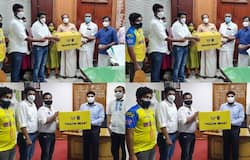<p>covid resistance kerala blasters fc donates 10000 numbers n95 masks to state government</p>