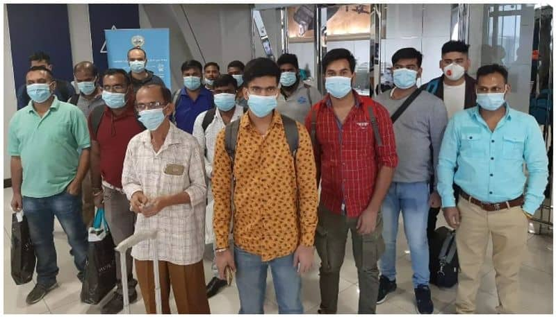 stranded crew members returned to India