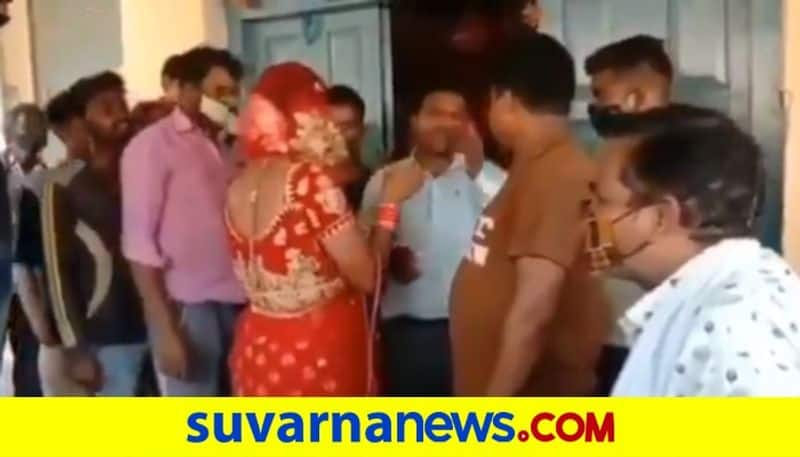 Man Reaches Girlfriends Residence To Meet Her Dressed As Bride Caught And Thrashed By Her Rela dpl