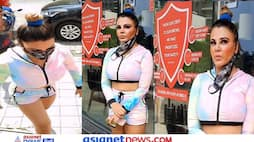 Rakhi Sawant fixes her chaddha in the middle of the road, the video is going viral KPZ