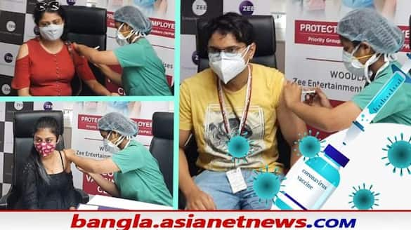 zee bangla takes initiative to give vaccine before reopen the floor bjc