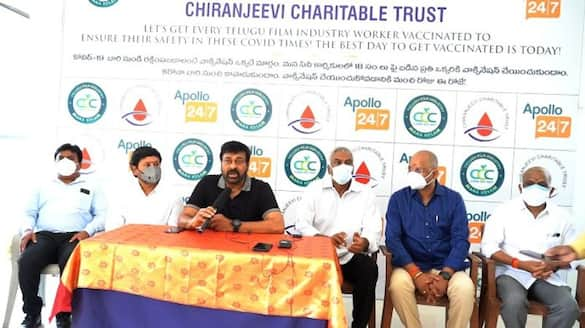 chiranjeevi started vaccination for film workers and artists arj