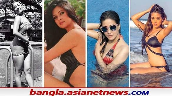 Suchitra moonmoon raima and riya sen featured in one frame in bikini dress BRD