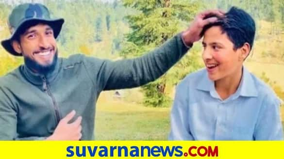 Army Officer In Kashmir Adopts A Boy Who Can not Speak And Hear mah