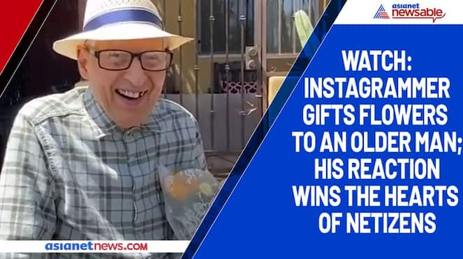 Watch Instagrammer gifts flowers to an older man; his reaction wins the hearts of netizens-tgy