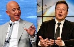<p>Jeff Bezos, Elon Musk</p>