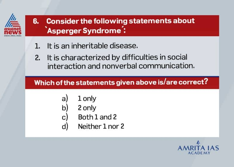 Answer(c) Asperger Syndrome is an autism spectrum disorder characterized by difficulties in social interaction and non-verbal communication, along with restricted and repetitive patterns of behavior and interests. The causes of Asperger's syndrome are unknown. It is inherited from parents.