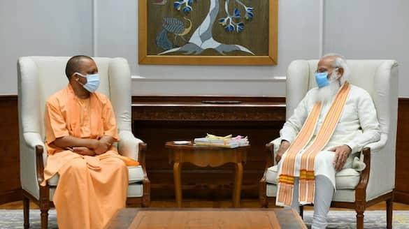 yogi adityanath meet with pm modi one hour amid talk of UP situation bsm