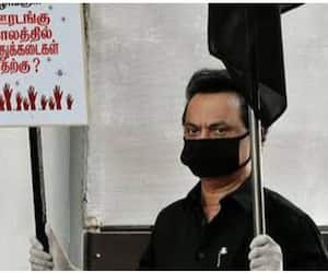 Did you forget that last year, father and son carried a banner and fought against Tasmac? L. Murugan asked!