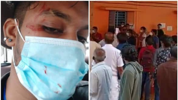 Volunteers clash at health center; Four people were injured