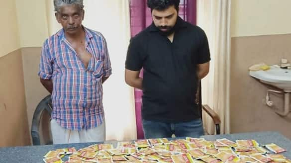 Two arrested with 100 packets of pan masala