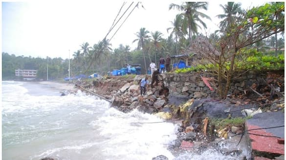 heavy rain: Heavy damage at Kovalam beach, sidewalk and security wall collapsed