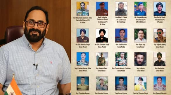 Rajeev Chandrasekhar MP pays tribute to Bravehearts lose life in galwan