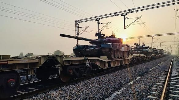 indian army ran 215 kms  a military train to check how quickly it can mobilise bsm