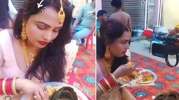 Woman Caught Eating Food With Hands At Wedding