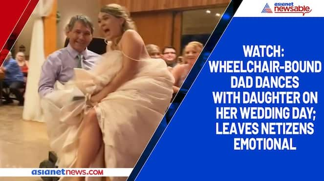 Watch Wheelchair-bound dad dances with daughter on her wedding day; leaves netizens emotional-tgy