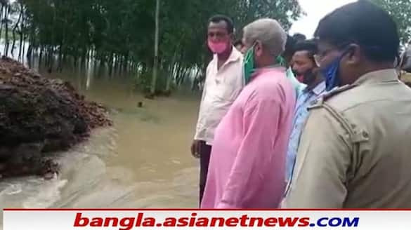 temporary road of PWD was washed away in three days of heavy rain in Bhater bsm