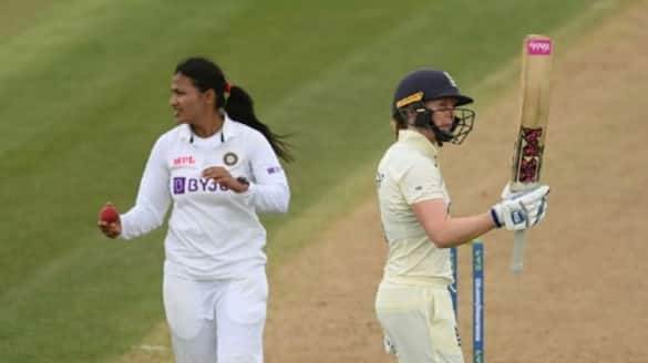 Sneh Rana picks three wicket on debut and India Women in control vs England