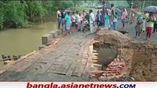 Residents of  Burdwan are happy to get a wooden bridge at the initiative of the MLA RTB