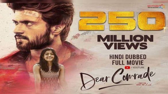 Record views for Hindi dubbed Dear comrade movie jsp